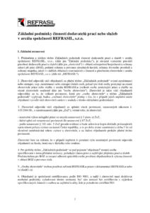 thumbnail of Zákl. podmínky činnosti dodavatelů v REFRASILU
